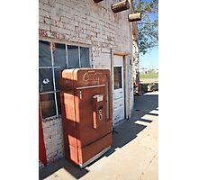 Route 66 - Rusty Coke Machine Photographic Print
