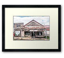 Decaying shop, Junee Framed Print