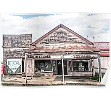 Decaying shop, Junee Poster