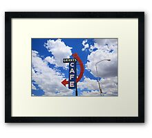 Route 66 - Grants Cafe Framed Print