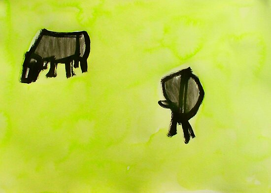 2 cows. by donnamalone