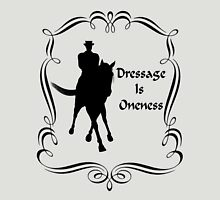 Dressage Is Oneness Silhouette  Womens Fitted T-Shirt