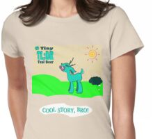 My Tiny Teal Deer - Better Version Womens Fitted T-Shirt