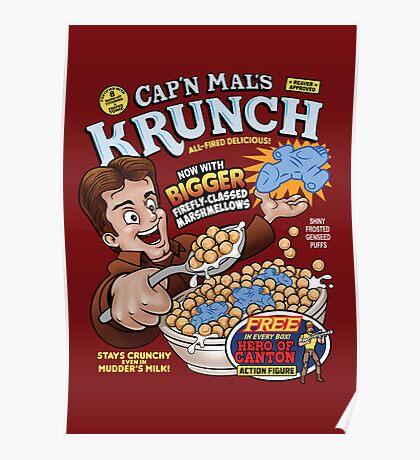 Captain Mal's Krunch Cereal Poster