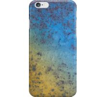 Blue Yellow Background - Rusty metal texture iPhone Case/Skin