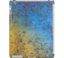 Blue Yellow Background - Rusty metal texture iPad Case/Skin