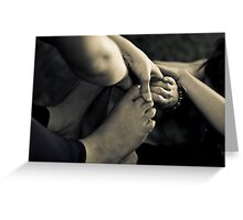 Hands Helping Hands Greeting Card