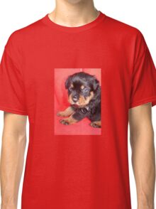 Cute Rottweiler Puppy With Food On Muzzle Classic T-Shirt