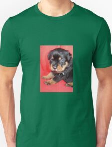 Cute Rottweiler Puppy With Food On Muzzle T-Shirt