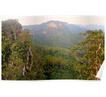 Jamison Valley panorama Poster