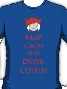 Keep Calm And Drink Coffeh! v.2 T-Shirt