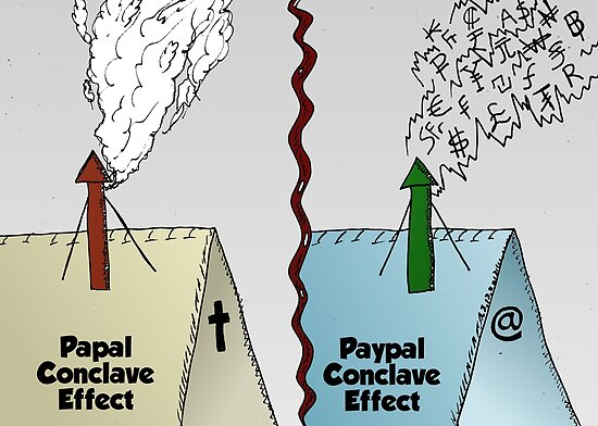 Paypal vs. Papal Conclave Effect by Binary-Options