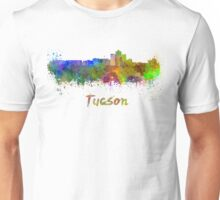 Tucson skyline in watercolor Unisex T-Shirt