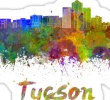 Tucson skyline in watercolor Sticker