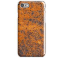 Orange rust texture - red rusty metal background iPhone Case/Skin