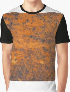 Orange rust texture - red rusty metal background Graphic T-Shirt