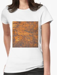 Orange rust texture - red rusty metal background Womens Fitted T-Shirt