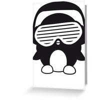 Funky Party Pengin DJ Greeting Card