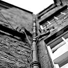 Pipework on an Edinburgh building by wittieb