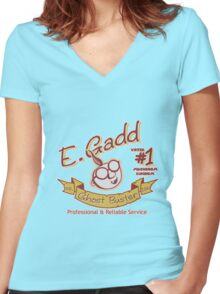 E. Gadd Women's Fitted V-Neck T-Shirt