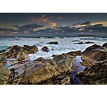 Battered Rocks Photographic Print