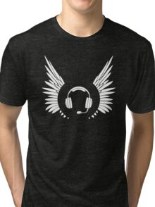 IRON Ribbon supporter - Black Tri-blend T-Shirt