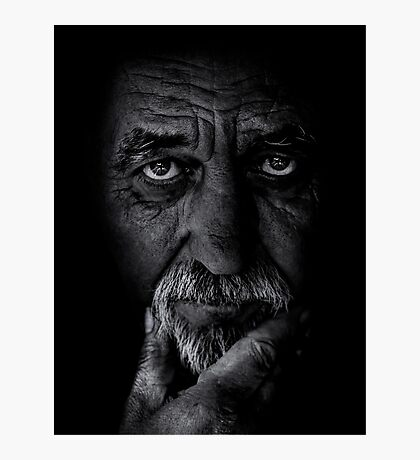 Portrait of old man Photographic Print