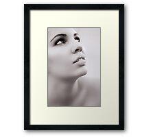 Portrait of woman Framed Print
