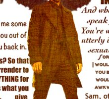 Castiel quotations  Sticker