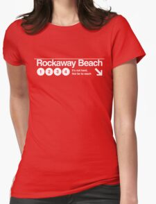 Rockaway Beach Womens Fitted T-Shirt