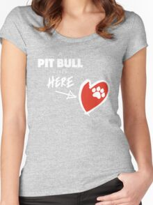 A Pit Bull Lives Here Women's Fitted Scoop T-Shirt