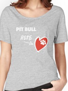 A Pit Bull Lives Here Women's Relaxed Fit T-Shirt