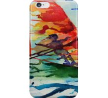 Windsurfing watercolour iPhone Case/Skin