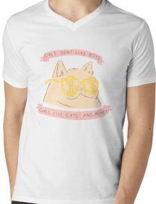 Cats and Money Mens V-Neck T-Shirt