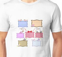 colorful banners with birds Unisex T-Shirt