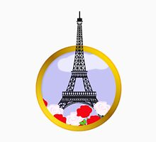 Eiffel tower in round frame Unisex T-Shirt