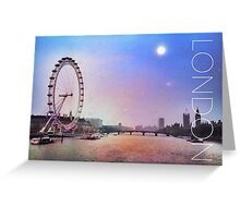 The View from Embankment Bridge Greeting Card