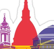 Turin skyline pop Sticker