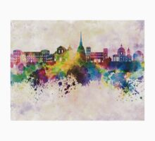 Turin skyline in watercolor background Baby Tee