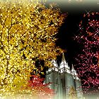 Evening Lights in Salt Lake City - Christmas by Charmiene Maxwell-Batten