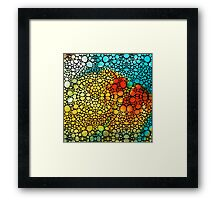 Siesta Sunrise - Stone Rock'd Art Painting Framed Print