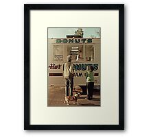 Donuts for Sale Framed Print