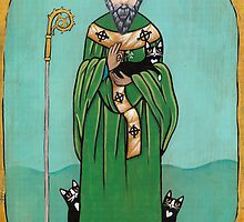 Saint Patrick and his Cats by Ryan Conners
