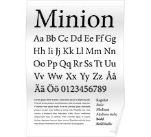 Typography Poster Minion Alphabet Poster