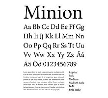 Typography Poster Minion Alphabet Photographic Print