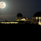 Moon Over Griffith Observatory by Mike Herdering