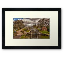 Bingley Five Rise Locks Framed Print