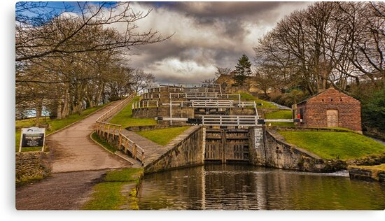 Bingley Five Rise Locks by Trevor Kersley