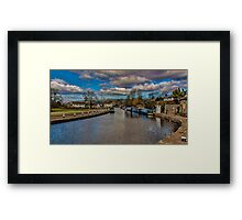 Leeds and Liverpool Canal at Bingley Framed Print