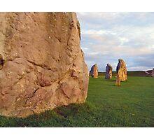 Sunset at Avebury stone circle Photographic Print